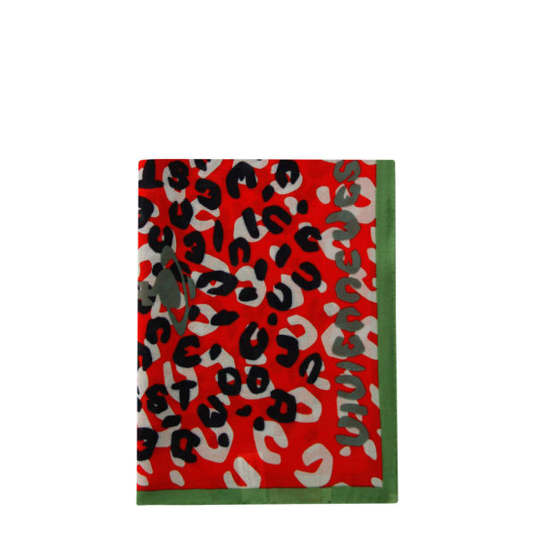 4cb5b9221a4 Vivienne Westwood - Accessories Women's New Leopard Scarf - Red - Free UK  Delivery over £50