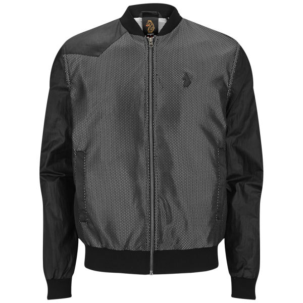 Luke 1977 Men's Kev Lowe Mixed Fabric Bomber Jacket - Black/Silver ...