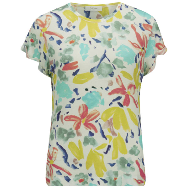Paul by paul smith women 39 s floral t shirt multi free for Paul smith floral shirt