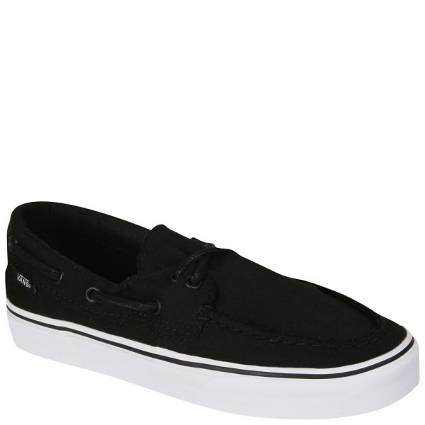 388c7a0bc912 Vans Zapato Del Barco Canvas Deck Shoes - Black True White  Image 1