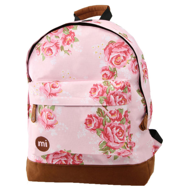 Mi-Pac Floral Pink Rose Print Backpack