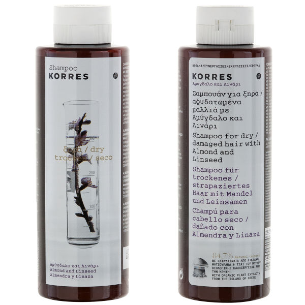 KORRES Shampoo Almond and Linseed For Dry/Damaged Hair (250 ml)