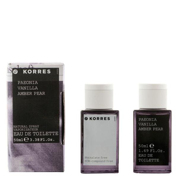 KORRES Paeonia, Vanilla & Amber Pear Edt (50ml)