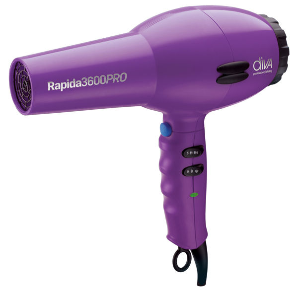 Diva Professional Rapida 3600 2000w Hairdryer Purple