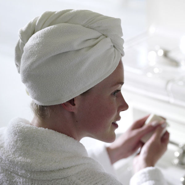Aquis Lisse Hair Turban - White
