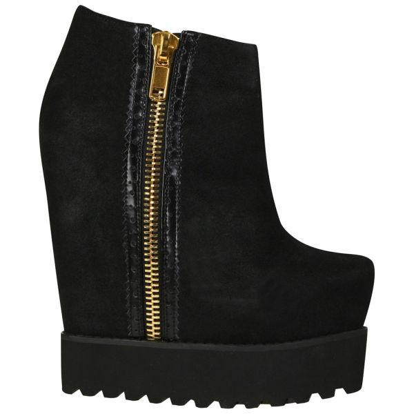 Senso Women's Zia Trucker Sole Wedged Boots - Black