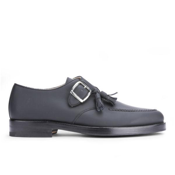 Mr. Hare Men's Bacon Tassel Leather Monk Shoes - Black