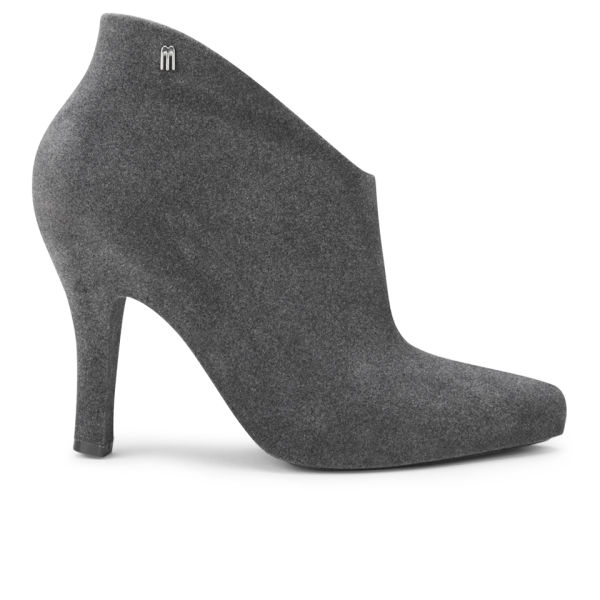 Women's Flock Drama Fabric Ankle Boot