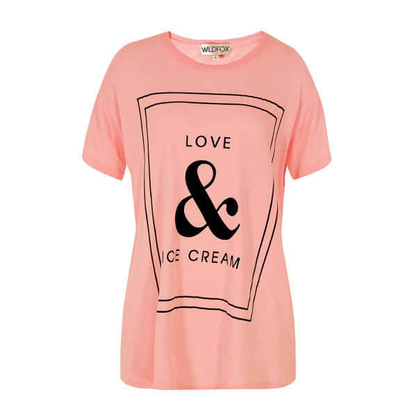 ddb725d4eb2d8b Wildfox Women s Love T-Shirt - Teen Dream Pink - Free UK Delivery ...