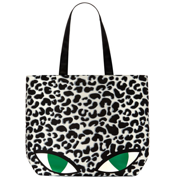 Lulu Guinness Lily Wild Cat Tote - Stone/Black