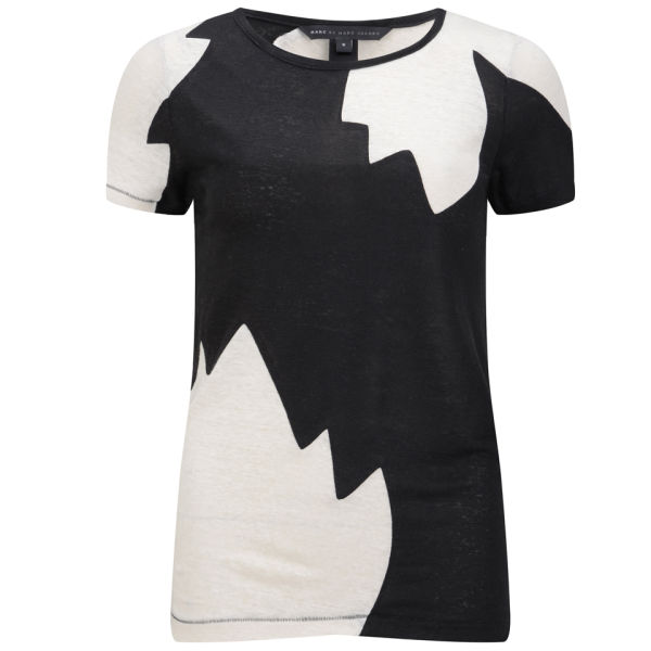 Marc by Marc Jacobs Women's Carmen Flame Colour Block T-Shirt - Black Multi