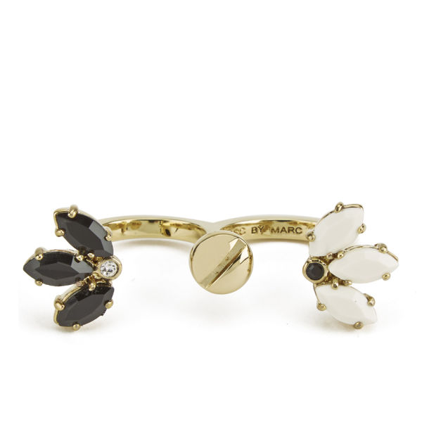 Marc by Marc Jacobs Marquis Palm Ring - Black Multi