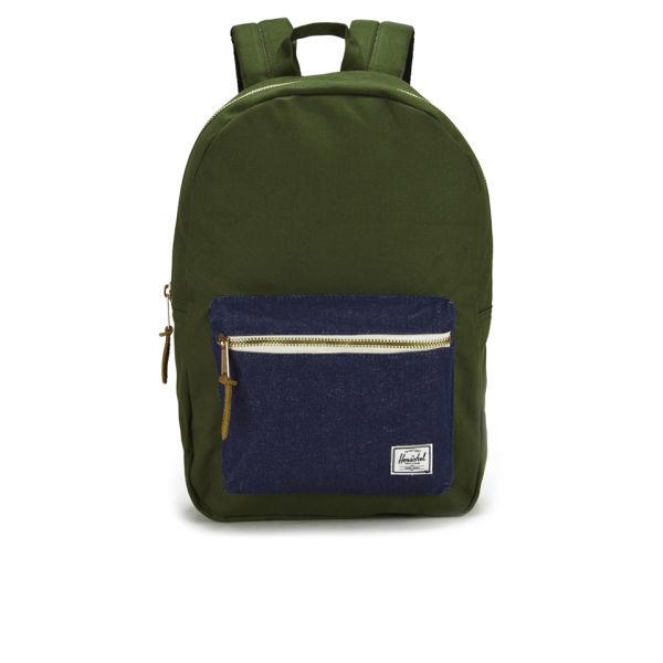 Herschel Supply Co. Select Settlement Backpack - Dark Army/Indigo Denim