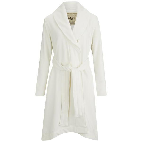 UGG Women\'s Heritage Comfort Duffield Dressing Gown - Cream - Free ...