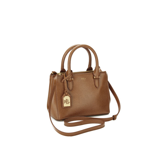 Lauren Ralph Women S Newbury Mini Double Zip Satchel Tan Image 2