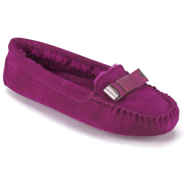 79b57dbfaeb4d0 Ted Baker Women s Sarsone Suede Bow Front Slippers - Dark Pink  Image 5