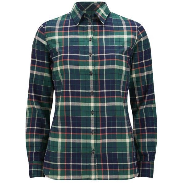 Barbour International Women's Iris Checked Shirt - Green Check ...