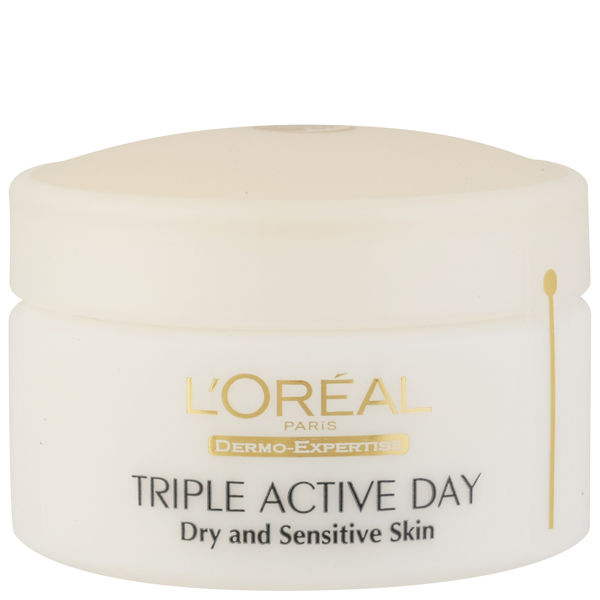 L'Oreal Paris Dermo Expertise Triple Active Day Multi-Protection Moisturiser - Dry / Sensitive Skin (50ml)