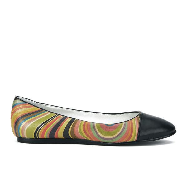 Paul Smith Shoes Women's Albers Swirl Leather Pumps - Black Derby Calf