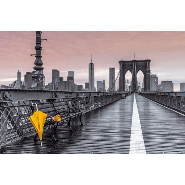 assaf frank brooklyn bridge umbrella maxi poster 61 x iwoot. Black Bedroom Furniture Sets. Home Design Ideas