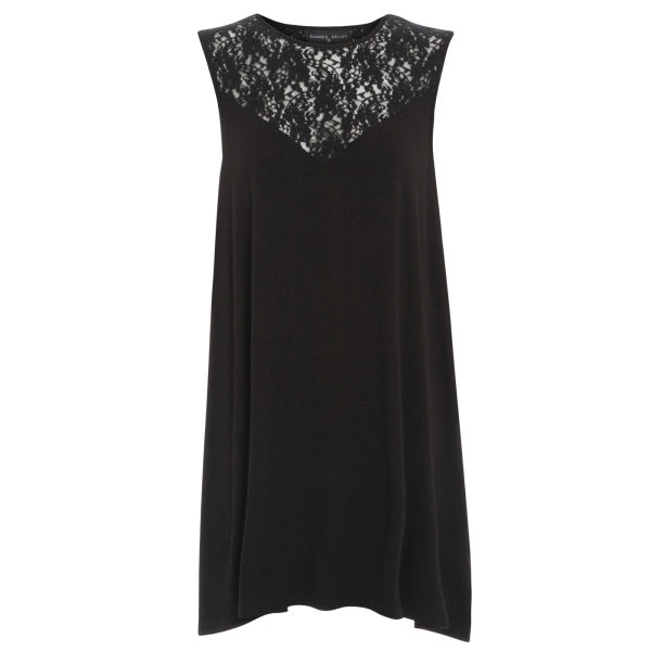 Damned Delux Women's Janice Swing Dress with Lace Insert - Black