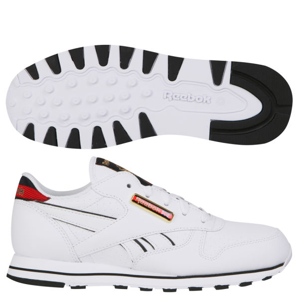 Reebok Classic Womens Leather Jacquard Trainer - White/Black