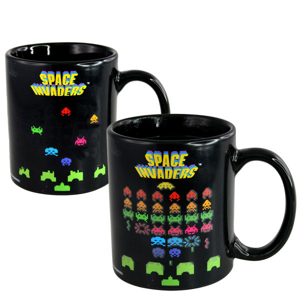 Space Invaders Colour Changing Mug Multi Traditional Gifts