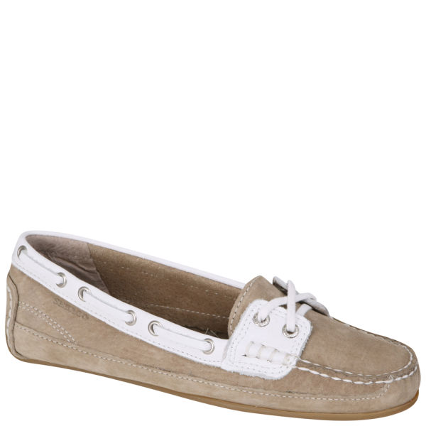Sebago Women's Bala Moccasin Boat Shoes - Taupe/White