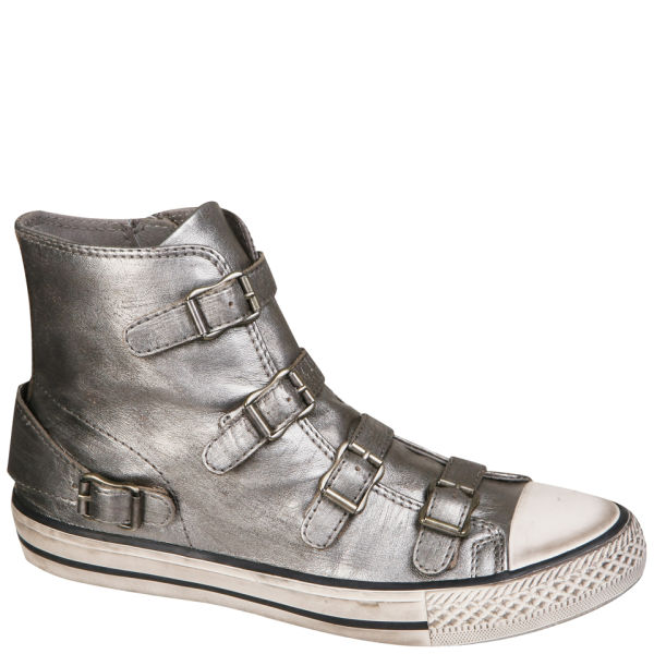 e44aba2475802 Ash Women s Virgin Metallic Hi-Top Trainers - Piombo