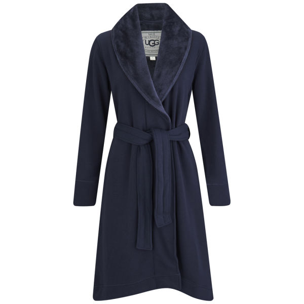 UGG Women's Duffield Double Knitted Fleece Collection Dressing Gown - Navy: Image 1