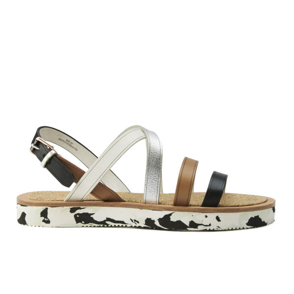 Paul Smith Shoes Women's Sennen Leather Flatform Sandals - Black/Larch Servo Lux
