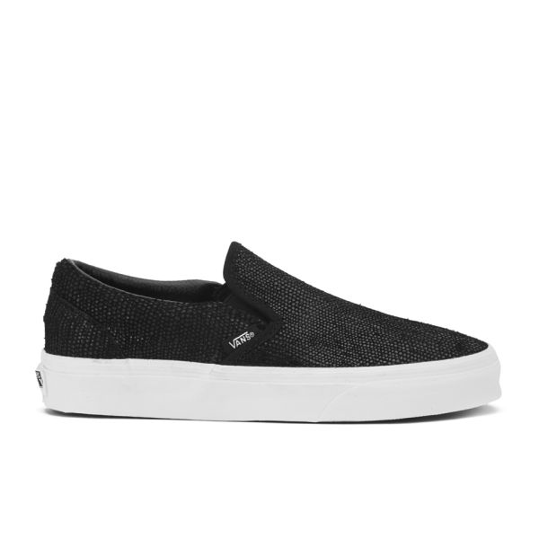 ff7789c007 Vans Women s Classic Slip-On Pebble Snake Trainers - Black  Image 1