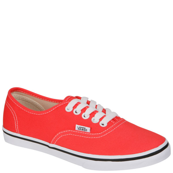 Vans Authentic Lo Pro Canvas Trainer - Coral/ True White: Image 1