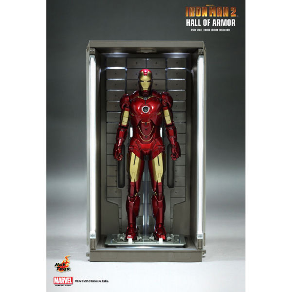 Hot Toys Iron Man 2: Hall Of Armour Set Of Four 1:6 Scale ...