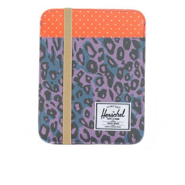 Herschel Supply Co. Cypress iPad Sleeve - Purple Leopard/Orange Polka Dot/Khaki