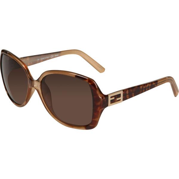 Fendi Oversized Rectangle Sunglasses - Leopard Brown