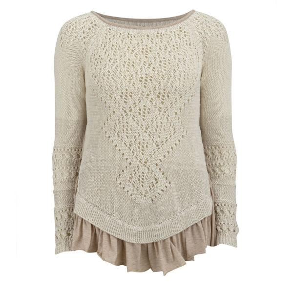 HIGH Women's Top Notch Knitwear - Cream