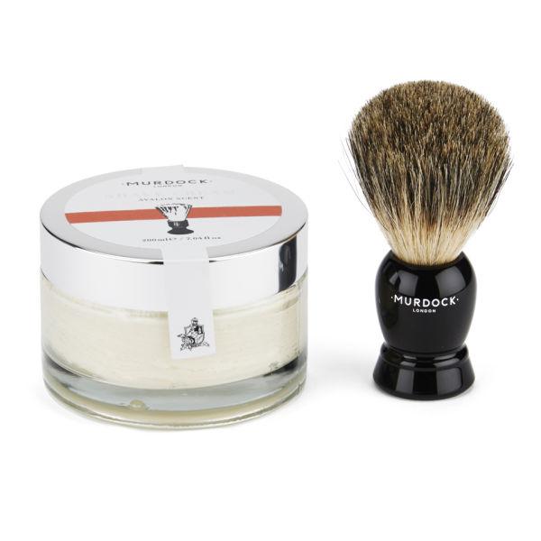 Murdock London Traditional Gift Box: Shave Cream & Badger Brush