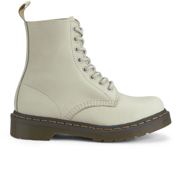 Dr. Martens Women's 1460 Pascal 8-Eye Leather Boots - Ivory/Black