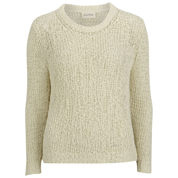 American Vintage Women's Chunky Knit Jumper - Pearl