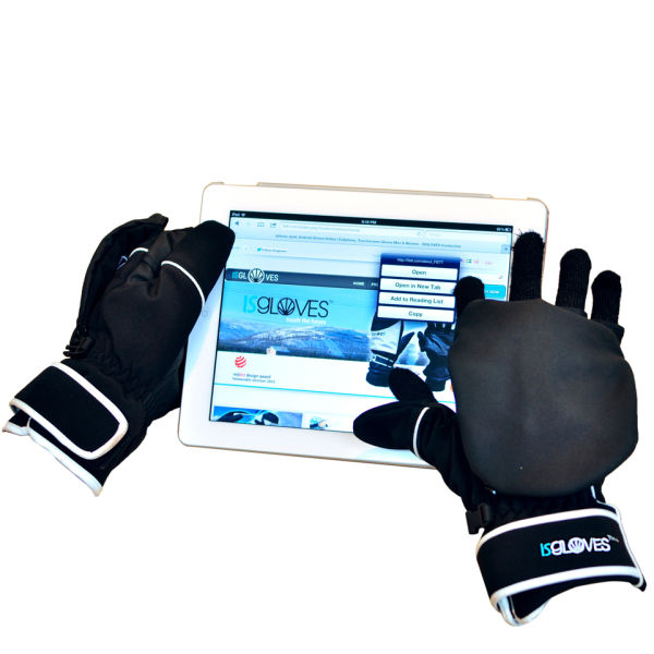 Isgloves Touchscreen Mittens Sports Model Black Iwoot