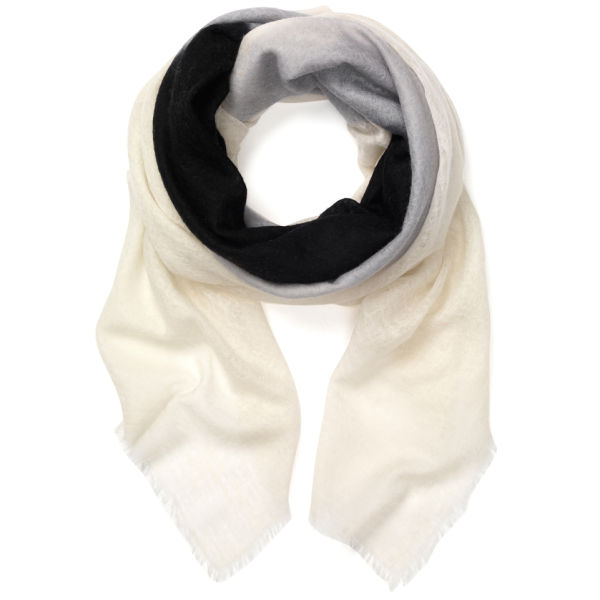 Jane Carr The Carre Eclipse Cashmere Scarf - Frost