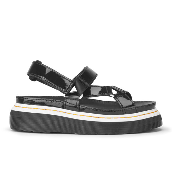 Dr. Martens x Agyness Deyn Women's Patent Leather Sandals - Black