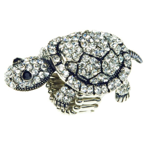 Rosie Fox Silver Tortoise Stretch Ring Womens Accessories