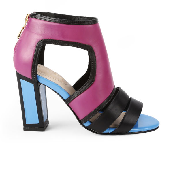 6cd4c4273ace Kat Maconie Women s Georgia Patent Leather Colour Block Heels - Magenta  Blue Black