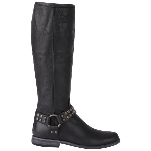 Frye Women's Phillip Studded Harness Tall Leather Boots - Black