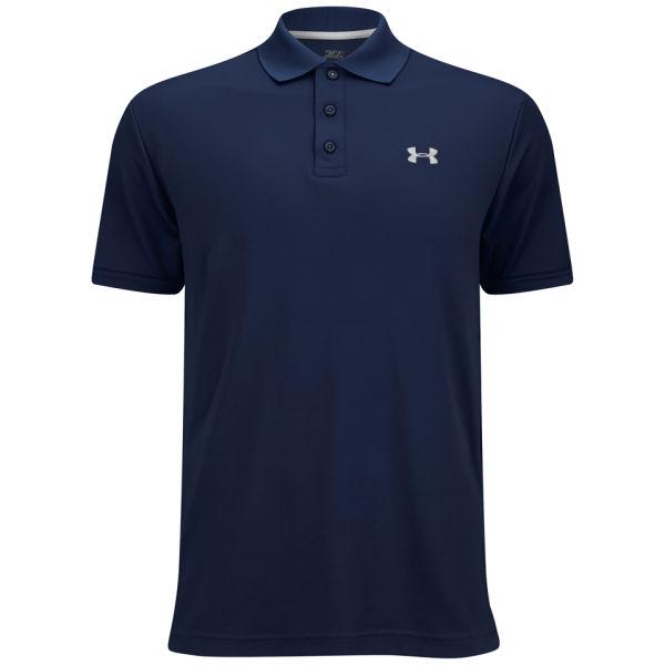 Under armour men 39 s performance polo shirt 2 0 navy white for Men s performance polo shirts