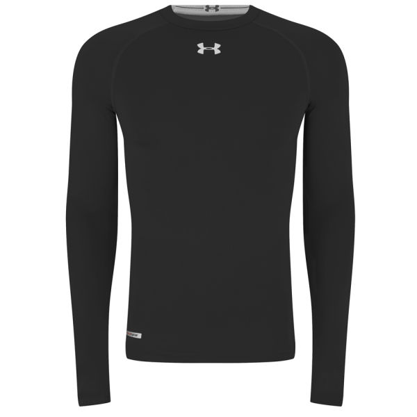 Under armour men 39 s heatgear sonic compression long sleeve for Under armour heatgear white shirt