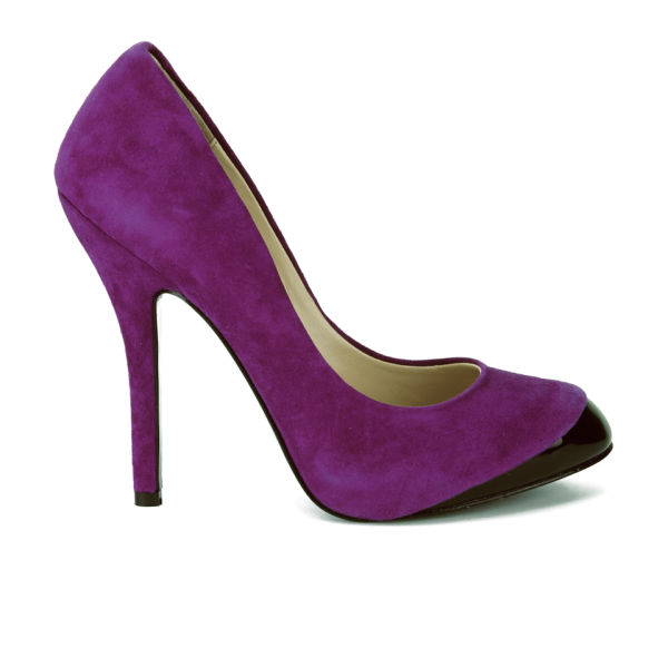 Vivienne Westwood Women's Holly Suede/Patent Leather Heeled Shoes - Purple
