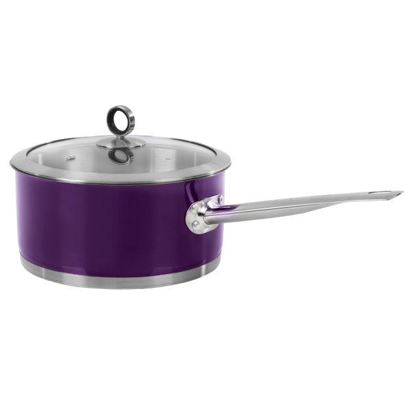 Morphy Richards Pots And Pans: Morphy Richards Accents 20cm Saucepan - Plum Homeware